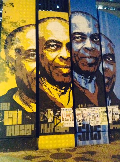 Mural  Gilberto Gil samba mpb